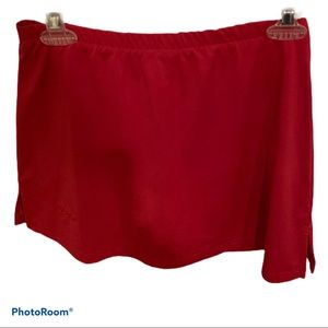 Bolle red tennis skort size small